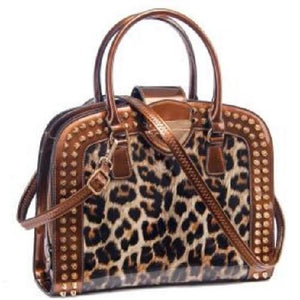 Leopard Print Patent Leather Handbags (Black)  - Kwikibuy Amazon Global
