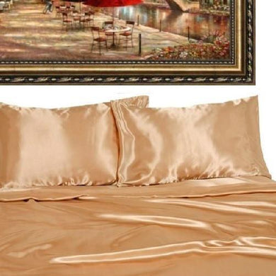 Quality Satin Sheet Sets (9 Colors - 5 Sizes)  - Kwikibuy Amazon Global