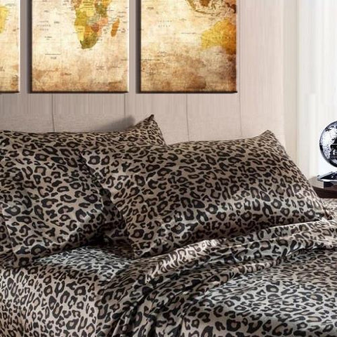 Quality Satin Sheet Sets (Leopard) - Kwikibuy Amazon