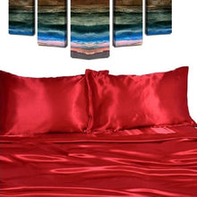Load image into Gallery viewer, Quality Satin Sheet Sets (9 Colors - 5 Sizes)  - Kwikibuy Amazon Global