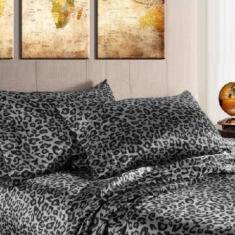 Quality Satin Sheet Sets (Snow Leopard) - Kwikibuy Amazon