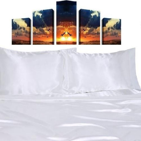 Quality-Satin-Sheet-Sets-White  - Kwikibuy Amazon Global