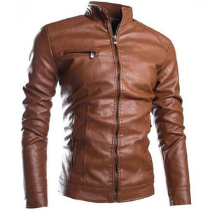 Mandarin-Collar-Multi-Pocket-Jacket-Brown  - Kwikibuy Amazon Global