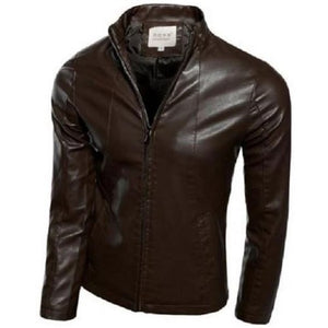 Mandarin Leather Jacket - Kwikibuy Amazon Global Size: X-Large Clothes Type: Leather and Suede Material: Leather and Cotton (manufactured) Collar: Mandarin