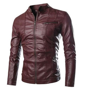 Mandarin-Collar-Multi-Pocket-Jacket-Burgundy  - Kwikibuy Amazon Global