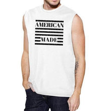 Load image into Gallery viewer, Mens Cotton Sleeveless T-Shirt - (Respect USA - White)  - Kwikibuy Amazon Global
