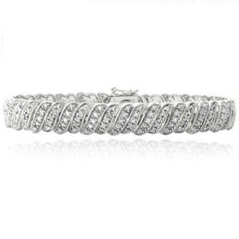 Shop-Now-1.00-CTTW-Diamond-Silver-tone-Bracelet-Women-female-Kwikibuy.com