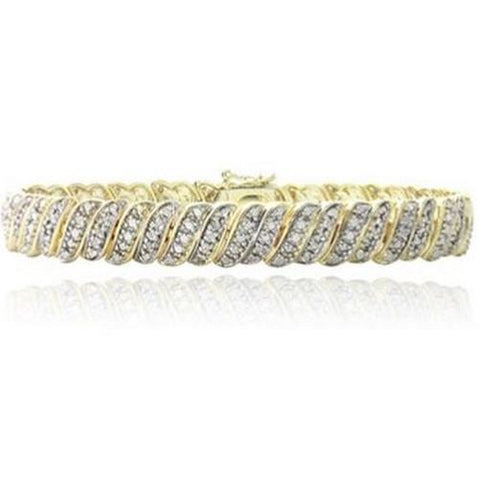 Shop-Now-1.00-CTTW-Diamond-polished-gold-Bracelet-Women-female-Kwikibuy.com
