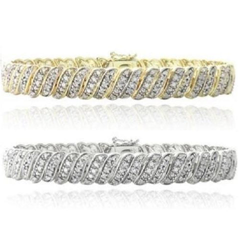 1.00 CTTW Diamond Bracelet $254.01 - God Degree Clothing And Accessories - GD's