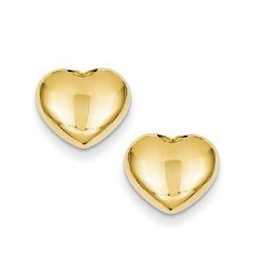 🍀 14K Solid Gold Heart Stud Earrings (Free Black Velvet Pouch)  - Kwikibuy Amazon Global