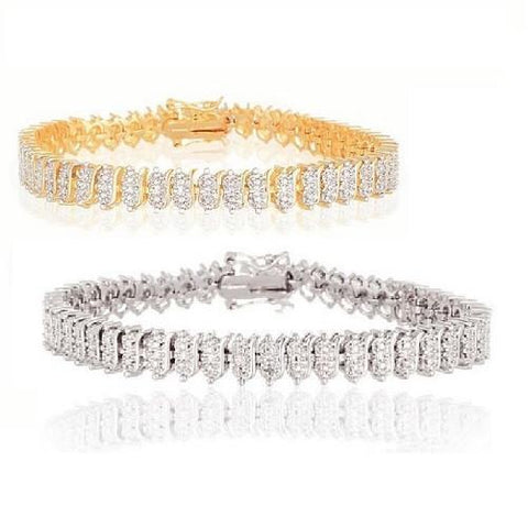 Shop-Now-Diamond-Accent-White-Yellow-Tennis-Bracelet-Women-female-Kwikibuy.com