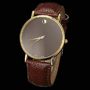 Geneva Minimalism Leather Band Wrist Watch  - Kwikibuy Amazon Global