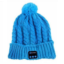 Load image into Gallery viewer, Bluetooth-Smart-Cap-Blue-Pom  - Kwikibuy Amazon Global