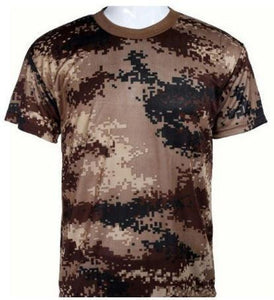 Breathable Camouflage T-Shirts - Kwikibuy Amazon Global 6 Sizes: Small to 3X-Large 4 Colors: Blue, Brown, Green or Grey Style: Fashion Men T-shirt
