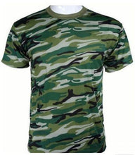 Load image into Gallery viewer, Breathable Camouflage T-Shirts - Kwikibuy Amazon Global 6 Sizes: Small to 3X-Large 4 Colors: Blue, Brown, Green or Grey Style: Fashion Men T-shirt