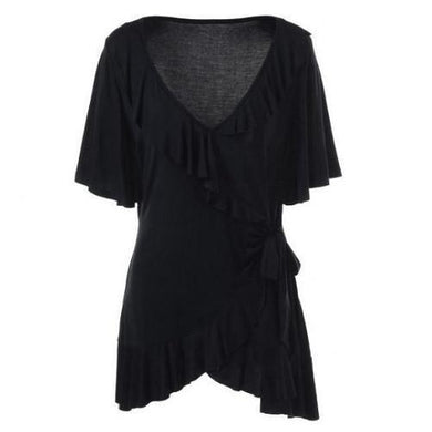 Plus-Size-Ruffled-Blouse-Deep-Black  - Kwikibuy Amazon Global