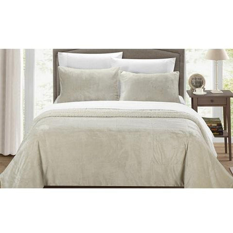 Plush-Comforter-Set-Beige  - Kwikibuy Amazon Global
