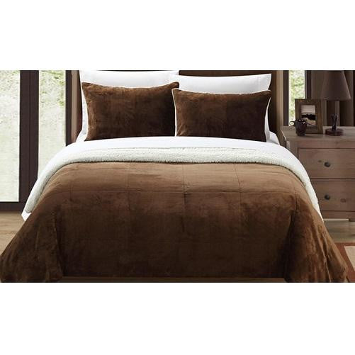 Plush Comforter Set (Brown) | Kwikibuy Amazon