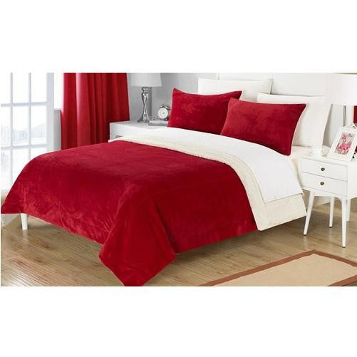 Plush-Comforter-Set-Burgundy  - Kwikibuy Amazon Global