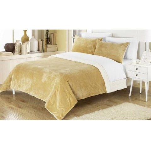 Plush-Comforter-Set-Camel  - Kwikibuy Amazon Global