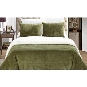 Plush-Comforter-Set-Green  - Kwikibuy Amazon Global