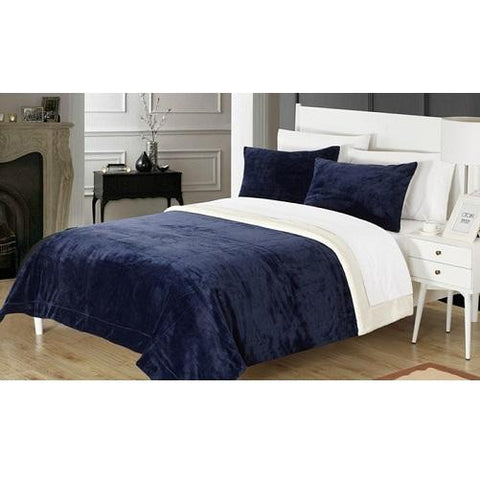 Plush-Comforter-Set-Navy-Blue  - Kwikibuy Amazon Global