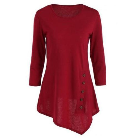 Button Blouse (Red) | Kwikibuy Amazon | United States | All | Women | Clothing | Shirt | Top