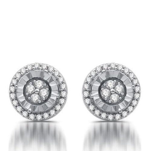 Quarter CTTW Diamond Round Shape Stud Earrings - Kwikibuy.com Official Site©