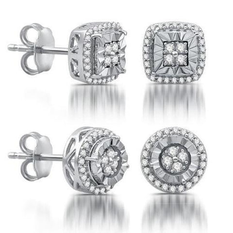 Shop-Now-Quarter-CTTW-Diamond-Round-or-Cushion-Shape-Stud-Earrings-Women-female-Kwikibuy.com