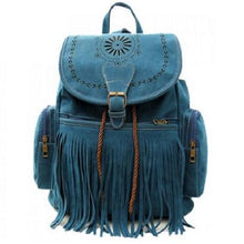 Load image into Gallery viewer, Fringe Design Blue Satchel (5 Colors)  - Kwikibuy Amazon Global