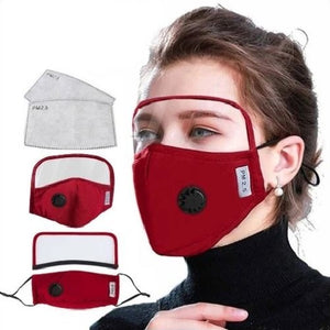 5 Reusable Filter Mask with Detachable Eyes Shield (6 Colors) - Kwikibuy Amazon Global Material: Polyester (Soft comfortable breathable quick drying) Protection