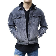 Load image into Gallery viewer, Ripped Denim Jean Jacket (2 Colors - 6 Sizes)  - Kwikibuy Amazon Global