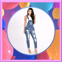 Load image into Gallery viewer, Shabby-Fashions-Ripped-Blue-Denim-Overalls  - Kwikibuy Amazon Global