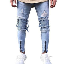 Load image into Gallery viewer, Shabby-Fashions-Slim-Fit-Ripped-Frayed-Denim-Jeans  - Kwikibuy Amazon Global