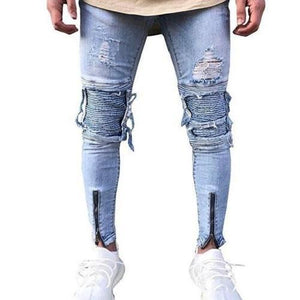 Shabby-Fashions-Slim-Fit-Ripped-Frayed-Denim-Jeans  - Kwikibuy Amazon Global
