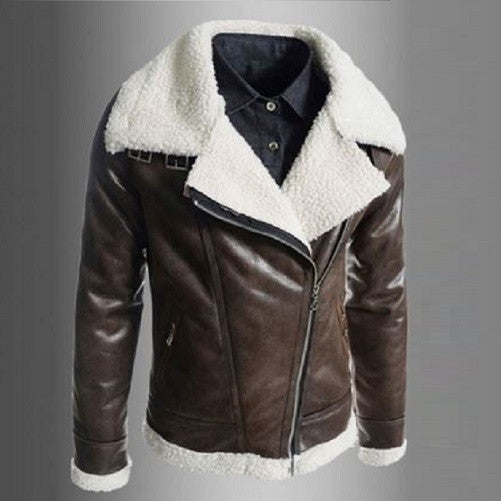 Sheep Wool Leather Coat  - Kwikibuy Amazon Global