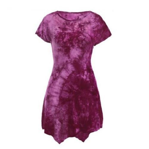 Tie-Dyed Asymmetric Dress  - Kwikibuy Amazon Global