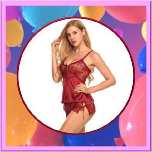 Silk-Lace-Satin-Lingerie-Red-Buy-One-Get-Two  - Kwikibuy Amazon Global