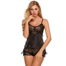 Load image into Gallery viewer, Silk-Lace-Satin-Lingerie-Black-Buy-One-Get-Two  - Kwikibuy Amazon Global