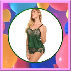 Silk-Lace-Satin-Lingerie-Green-Buy-One-Get-Two  - Kwikibuy Amazon Global
