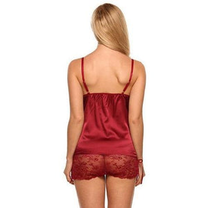 Silk Lace Satin Lingerie (5 Colors and 5 Sizes)  - Kwikibuy Amazon Global