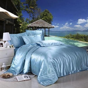 Silk Satin Bedding Quilt Duvet Cover Set (22 Colors)  - Kwikibuy Amazon Global
