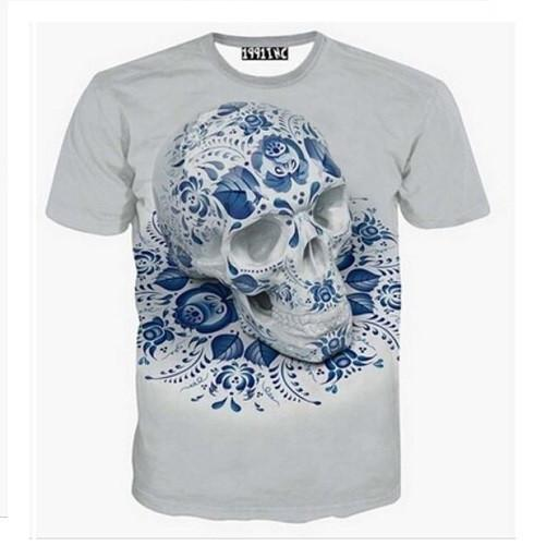 Blues Skull 3-D Printed T-Shirts | Kwikibuy Amazon | United States