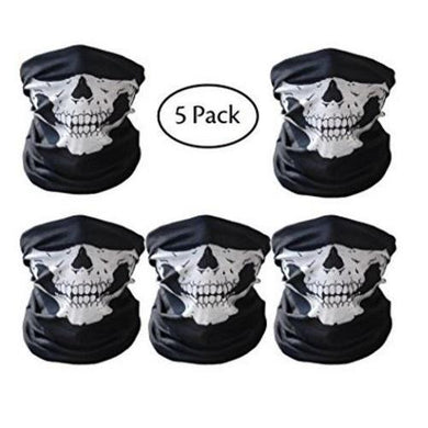 Skull Mask (5 Pack) - Kwikibuy Amazon Global GREAT MATERIAL - Skull mask is made of anti-UV, anti-bacterial odor microfiber polyester, moisture absorption