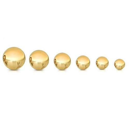 Solid 14K Gold & Solid White Gold Ball Studs $24.01 & Up - Kwikibuy.com™®