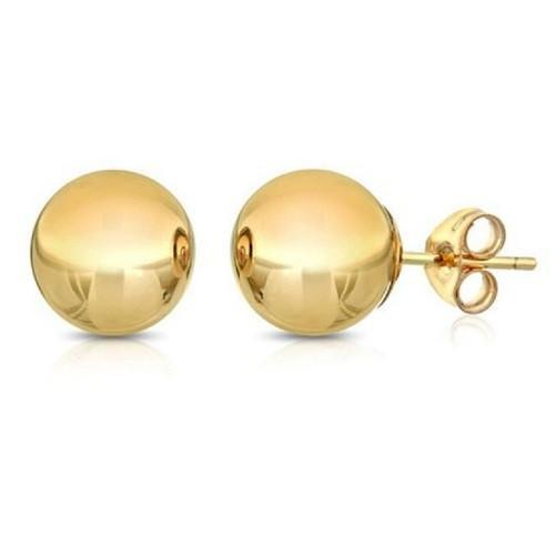 Solid 14K Gold & Solid White Gold Ball Studs $24.01 & Up - God Degree Clothing And Accessories™® - GD's™®