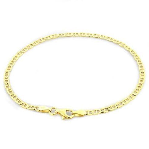 Solid 14K Gold Diamond Cut Mariner Bracelet Buy One for $89.01 or Buy Two for $169.01 - God Degree Clothing And Accessories™® - GD's™®