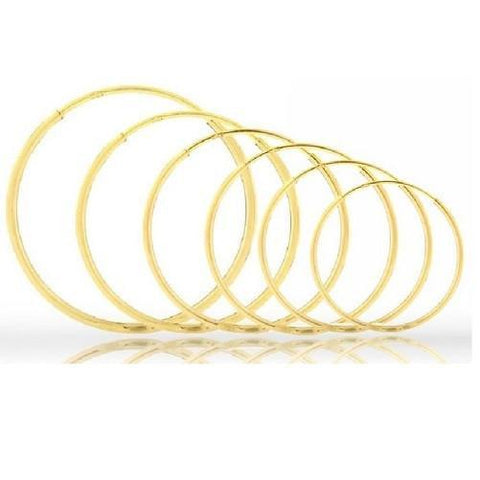 Solid 14K Gold Endless Hoop Earrings $19.01 & Up - God Degree Clothing And Accessories™® - GD's™®