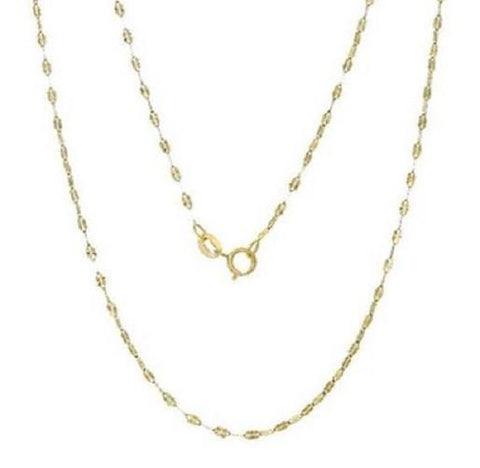 Solid 14K Gold Italian Links Necklace - Kwikibuy.com Official Site©