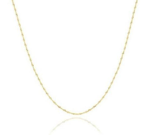 Solid 14K Gold Lightweight Italian Helix Links Necklace - Kwikibuy.com Official Site©